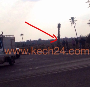 خاص: لجنة خاصة لمعاينة الحفرة العملاقة بمدخل مدينة مراكش + صورة حصرية