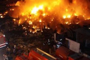 عاجل: إندلاع النيران بالسوق المركزي