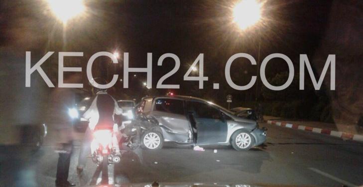 عاجل : حادثة سير خطيرة تخلف جريحين بجيليز مراكش + صورة حصرية