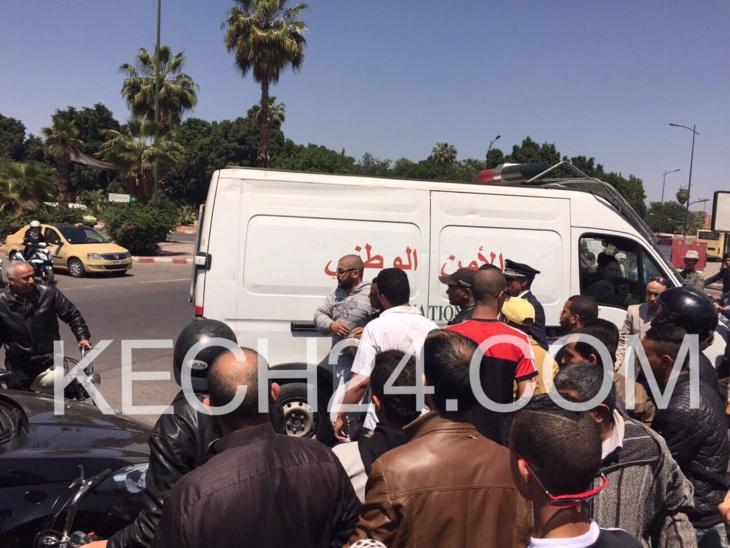 عاجل : شخص يعتدي على سائق دراجة نارية بعدما صدمه بسيارته بمراكش + صور حصرية