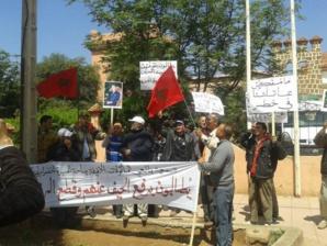 احتجاجات أمام باشوية أيت أورير بإقليم الحوز ومطالب بالتحقيق في تفويت محلات تجارية