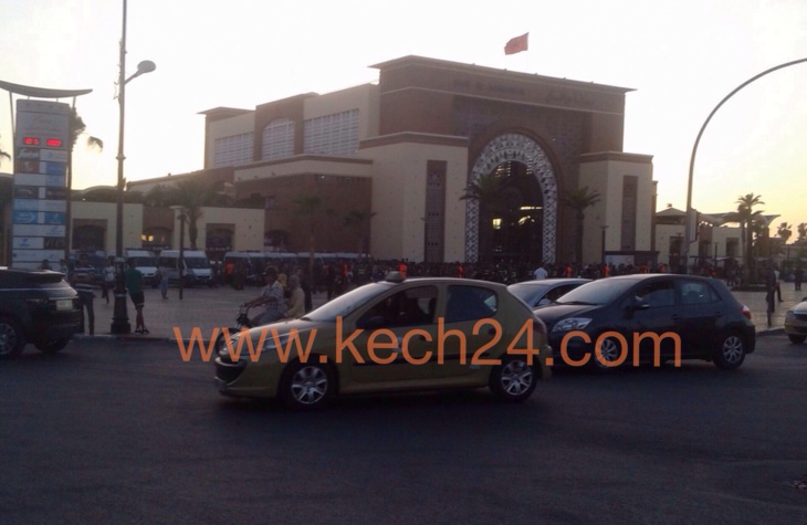 عاجل: إستنفار أمني كبير أمام محطة القطار مراكش و