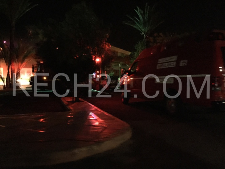 عاجل : اندلاع حريق مهول باحد مطاعم