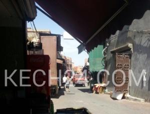عاجل : اندلاع حريق بمحل تجاري بجامع لفنا بمراكش + صورة حصرية
