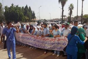 ممرضون وطلبة يخوضون اعتصاما بأمعاء فارغة بالمعهد العالي للمهن التمريضية بمراكش