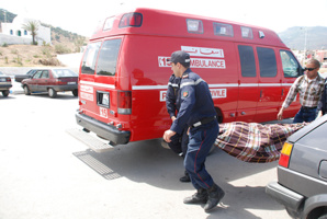 إصابة امرأة بجروح خطيرة في حادثة سير على الطريق الوطنية بين مراكش وشيشاوة