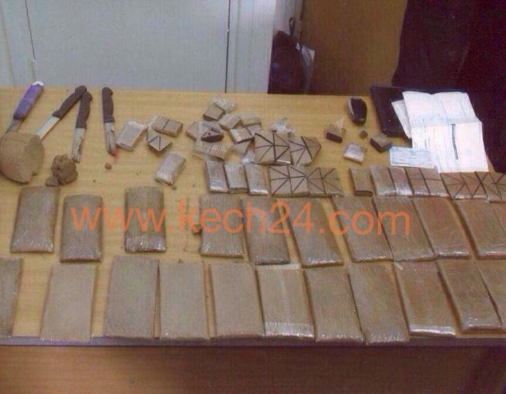هذه هي كمية المخدرات المحجوزة بمحطة القطار مراكش+ صورة حصرية
