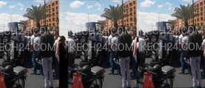 انقلاب سيارة تقودها سيدة بعد اصطدامها بأخرى مركونة بشارع آسفي بمراكش + صورة حصرية