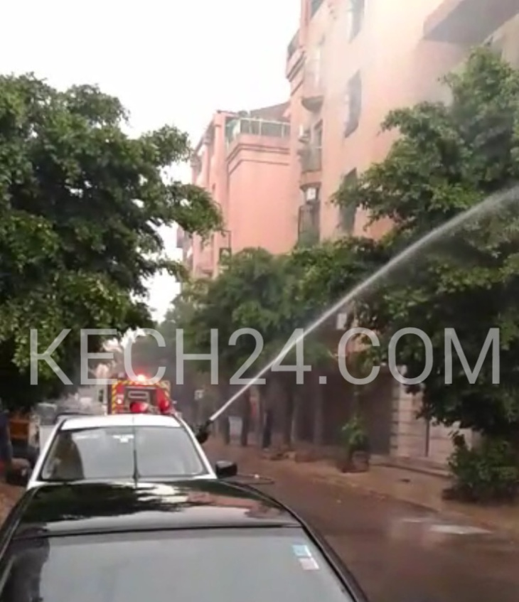عاجل : حريق كاد يتسبب في كارثة بجيليز مراكش + صورة حصرية