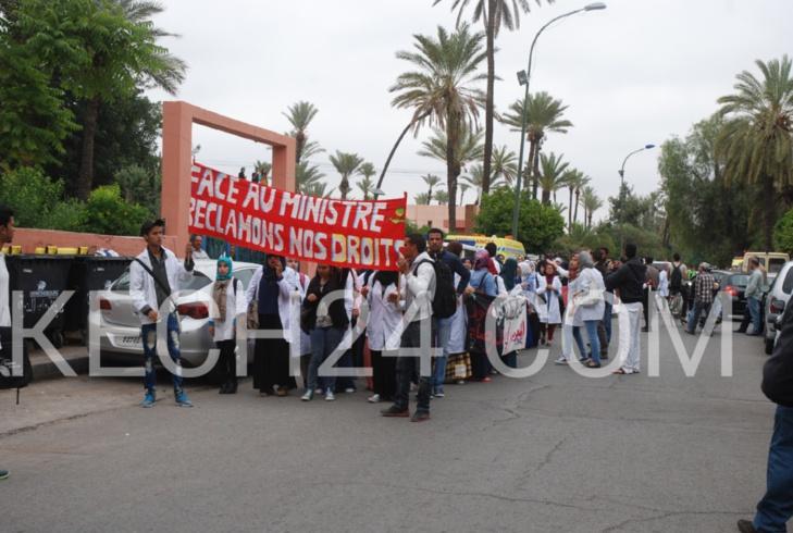 عاجل: ممرضو وخريجو وطلبة المعهد العالي للمهن التمريضية بمراكش ينقلون احتجاجاتهم الى مستشفى ابن طفيل