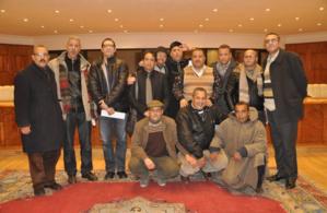 النقابة الوطنية للصحافة المغربية فرع مراكش تحتفي بالإعلاميين عمر ابن لشهب وعبد الرزاق موحد