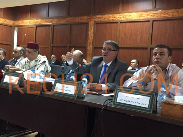 انعقاد الدورة العادية لمجلس جهة مراكش تانسيفت الحوز بإقليم الرحامنة في غياب الوالي بيكرات