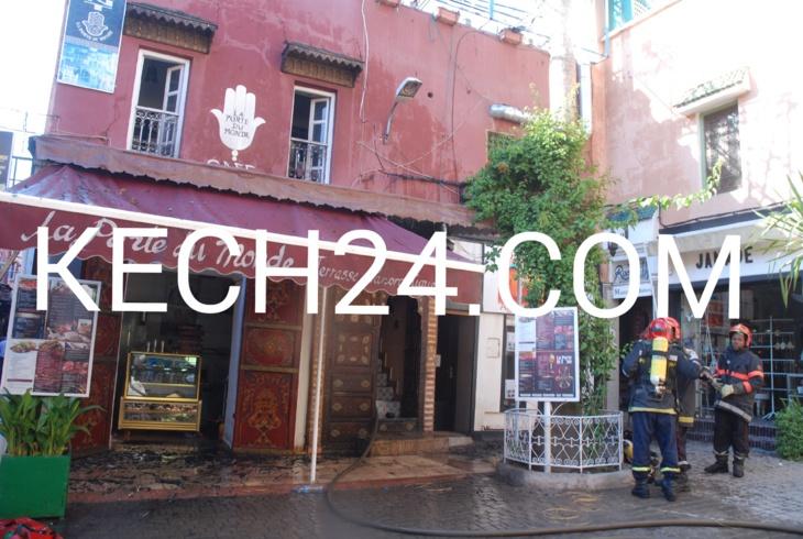 عاجل: اندلاع حريق في مطعم بحي القنارية بمراكش + صورة حصرية