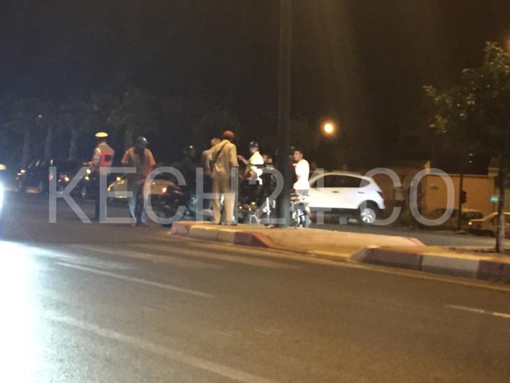 حادثة سير خطيرة بشارع عبد الكريم الخطابي بمراكش + صورة حصرية
