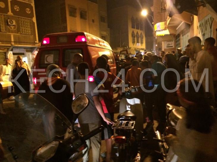 عاجل : طفلة ضحية دراجة نارية بسيدي يوسف بن علي بمراكش + صور حصرية