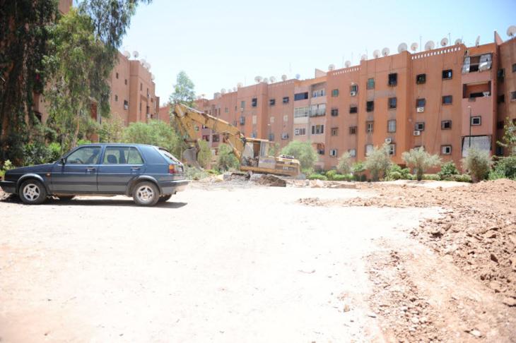 اتهامات لرجل أمن بعرقلة أشغال تهيئة حديقة بإقامة الرجاء بحي المسيرة بمراكش