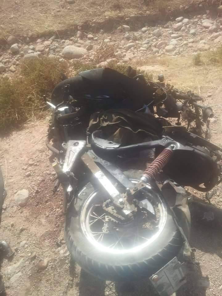 قتيلان في إصطدام دراجة نارية وسيارة أجرة نواحي الصويرة + صور