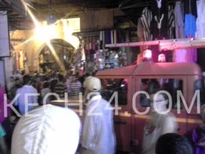 اندلاع النيران بمدخل سوق السمارين بمراكش + صورة حصرية