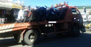 حجز نحو 100 دراجة نارية من نوع