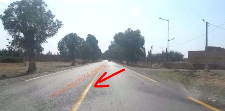 بالصورة: علامة تشوير أرضية بين مراكش وأيت أورير تثير غضب السائقين و