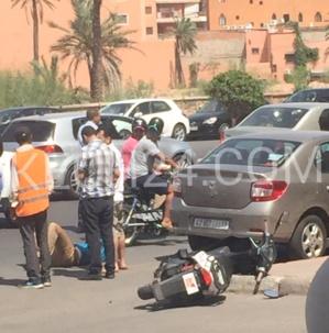 حادثة سير خطيرة قرب مخبزة امود بمراكش .. وحصيلة حوادث السير في ارتفاع ملحوظ