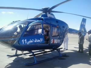 نقل سيدة حامل بتوأمين بواسطة مروحية طبية الى مستشفى محمد السادس بمراكش
