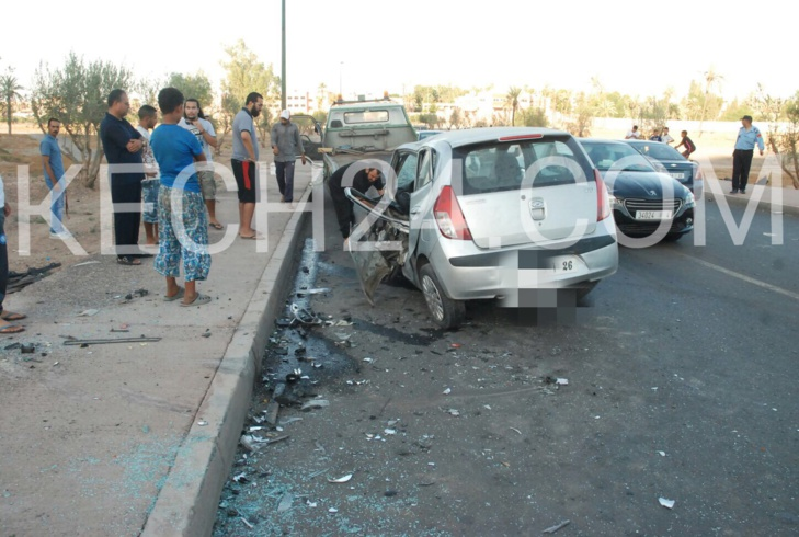بالصور : حادثة سير مروعة بمراكش
