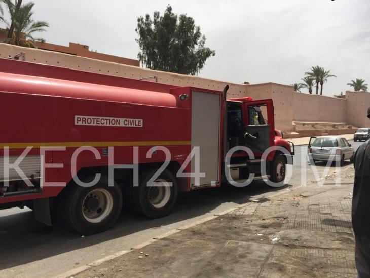 عاجل: اندلاع حريق بورشة لاصلاح السيارات قرب مستودع الأموات بباب دكالة بمراكش+ صور حصرية + صور حصرية