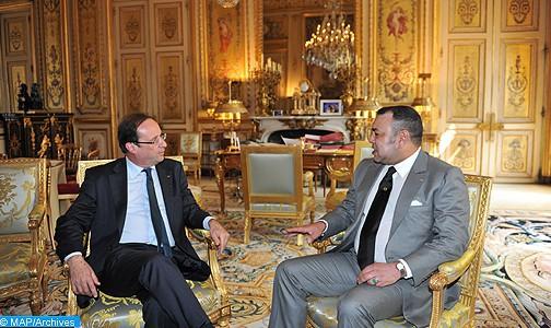 """صاحب الجلالة الملك محمد السادس والرئيس فرانسوا هولاند يطلقان """"نداء طنجة، من أجل مبادرة تضامنية قوية لفائدة المناخ"""""""