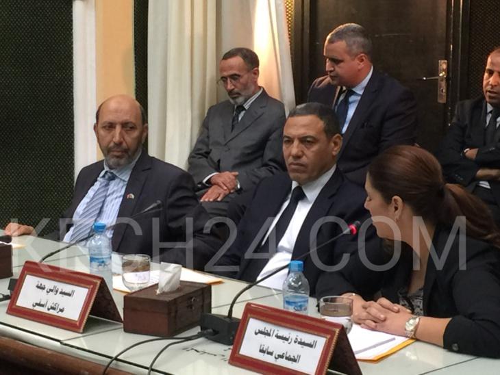 تسليم السلط بين فاطمة الزهراء المنصوري وعمدة مراكش الجديد محمد العربي بلقايد + صور