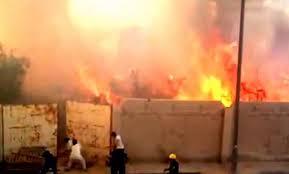 اندلاع حريق في مقبرة لدفن أموات المسلمين
