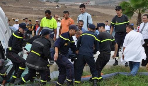 حادثة سير تودي بحياة 5 أشخاص وترسل 11 آخرين في حالة خطيرة إلى مستعجلات إبن طفيل بمراكش