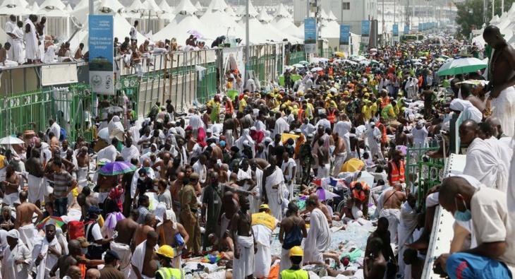 عاجل : مصدر رسمي سعودي 769 حالة وفاة اثر تدافع الحجيج بمنى