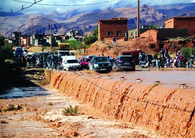 عاجل: سيول الأمطار تعزل منطقة إمليل السياحية بإقليم الحوز