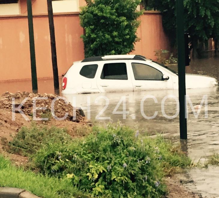 ڤيديو وصور جديدة لشوارع مدينة مراكش تغرق تحت الأمطار العاصفية