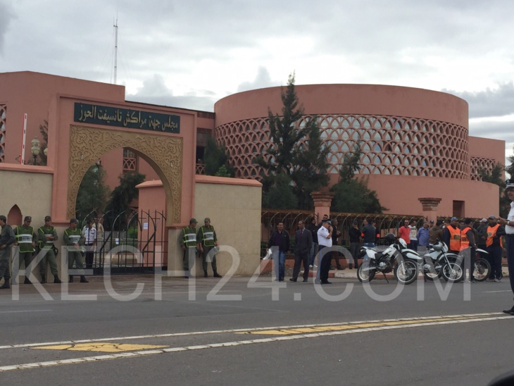 عاجل: استنفار أمني يواكب انتخاب رئيس مقاطعة سيدي يوسف بن علي بمراكش + صور