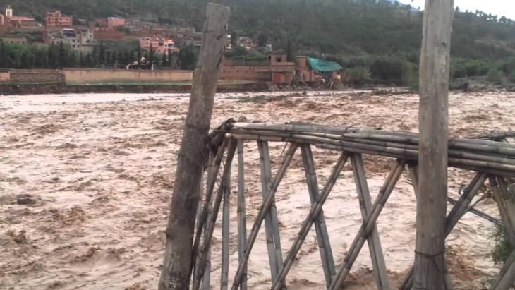 24 سائحا حاصرتهم السيول الجارفة باقليم الحوز ضواحي مراكش