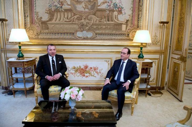 الرئيس الفرنسي يستقبل العاهل المغربي الملك محمد السادس