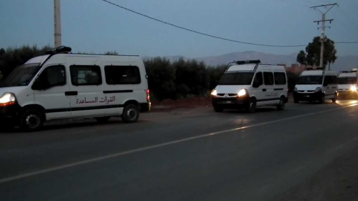 اصابة 20 من عناصر القوات العمومية في استعمال طلبة للعنف والرشق بالحجارة بأكادير
