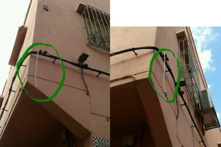 خطر محدق بالمواطنين في عرصة الملاك بالمدينة العتيقة لمراكش + صورة