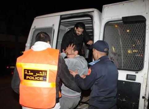 أمن مراكش يعتقل أربعة
