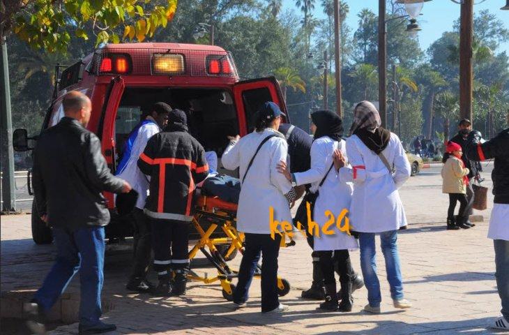 عاجل: نقل خمسة مصابين في صفوف