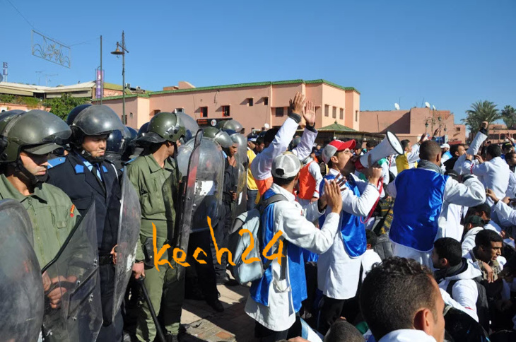 هذا مجموع المصابين في احتجاجات الأساتذة المتدربين بمراكش