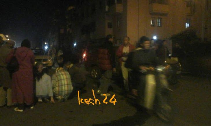 عاجل: سيارة تدهس امرأة بحي الداوديات بمراكش + صور