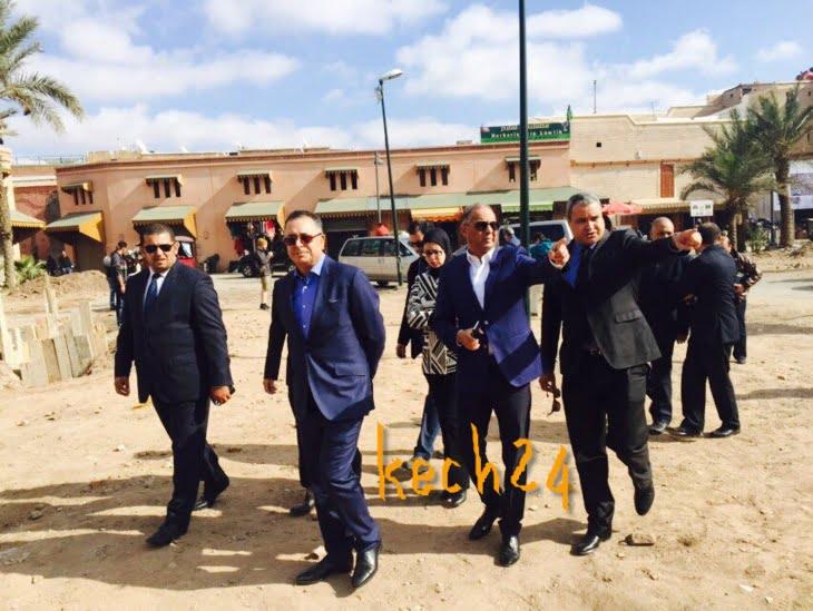وزير السياحة و والي الجهة يزوران حي الملاح بمراكش وهذا ما أوصى به مفكر