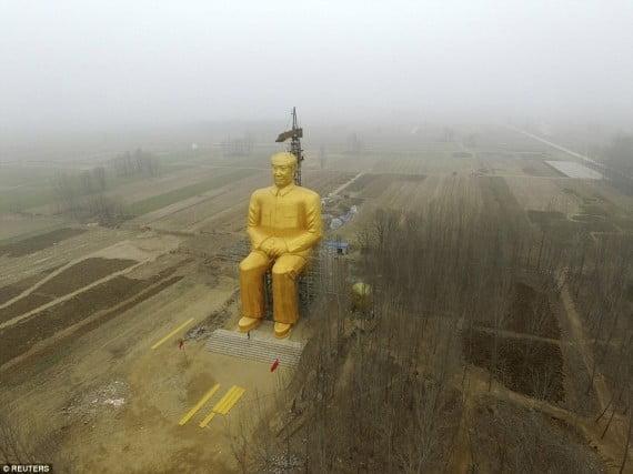 الصين تزيل تمثال الزعيم الشيوعي