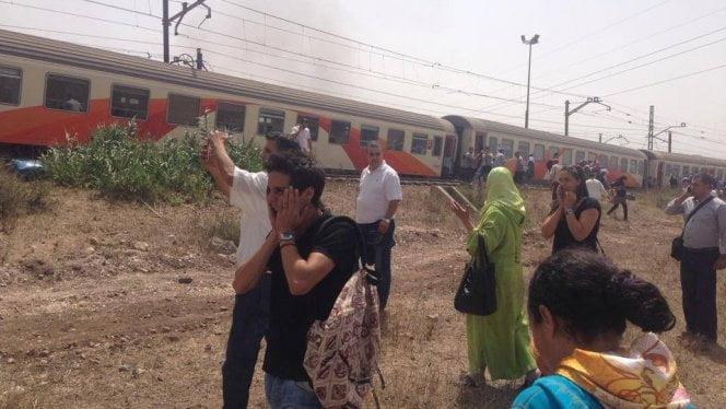 اندلاع حريق بإحدى مقطورات القطار القادم من مدينة القنيطرة في اتجاه الدار البيضاء