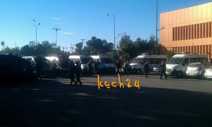 عاجل: إنزال أمني مكثف أمام مركز البريد الرئيسي بجليز بمراكش + صورة