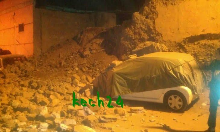 عاجل: إنهيار جدار بحومة سيدي بودشيش بالمدينة العتيقة لمراكش + صور