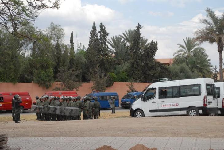 استنفار أمني بالحي الجامعي بمراكش جراء مواجهات عنيفة بين طلبة صحراويين وأمازيغ